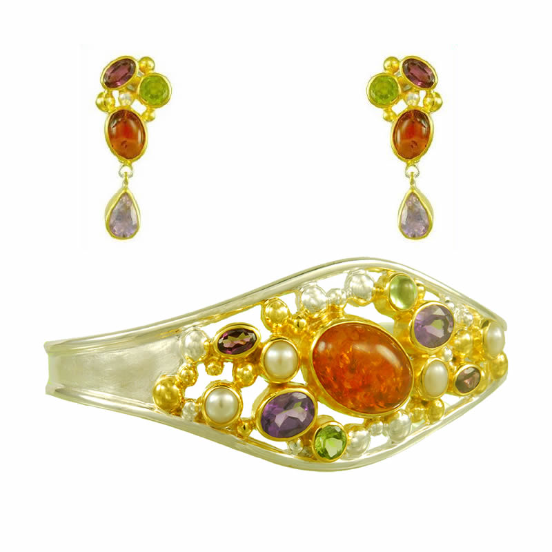Gemstone Earring & Bracelet Sets