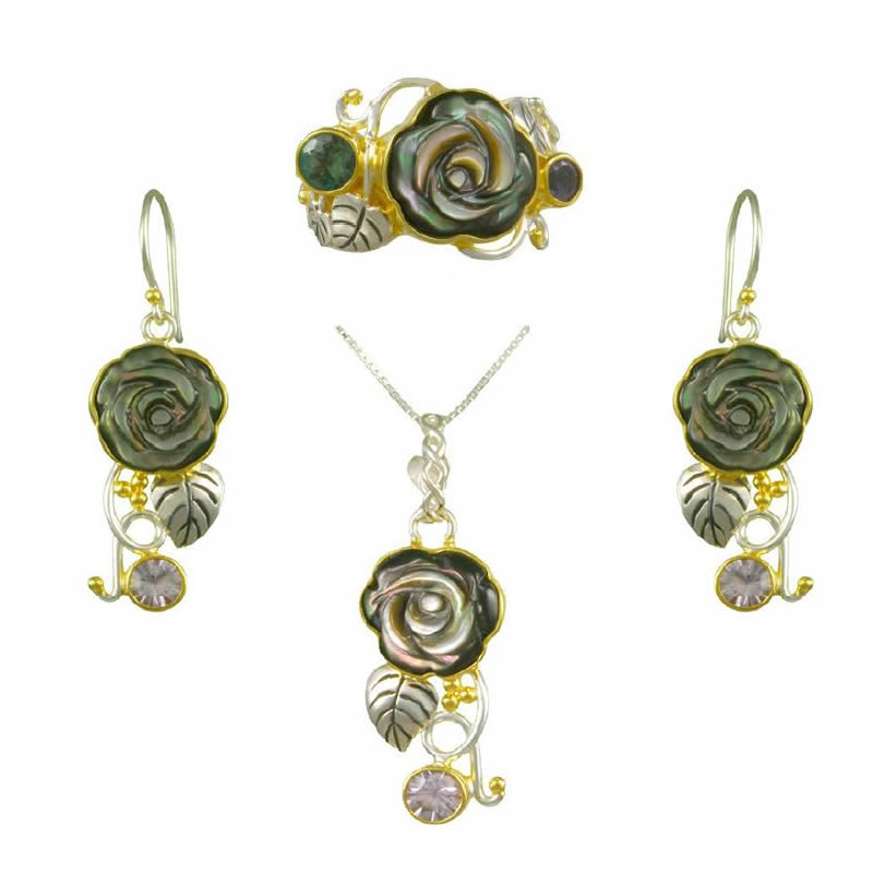 Pearl Earring, Pendant, & Ring Sets
