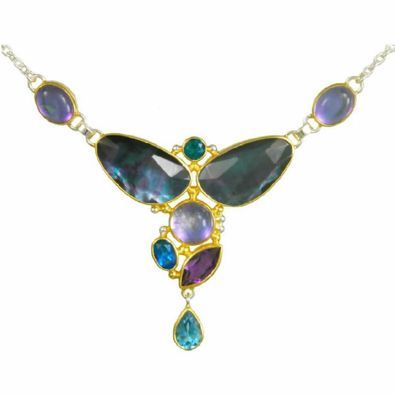 Multi-Color Gemstone Necklaces