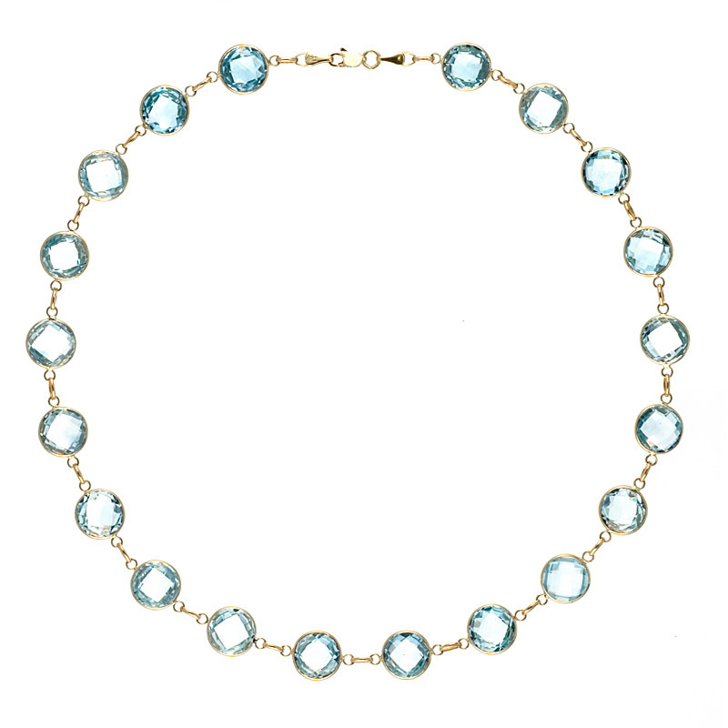 Blue Topaz Necklaces