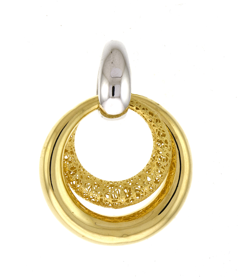 Bi-Color Gold Pendants