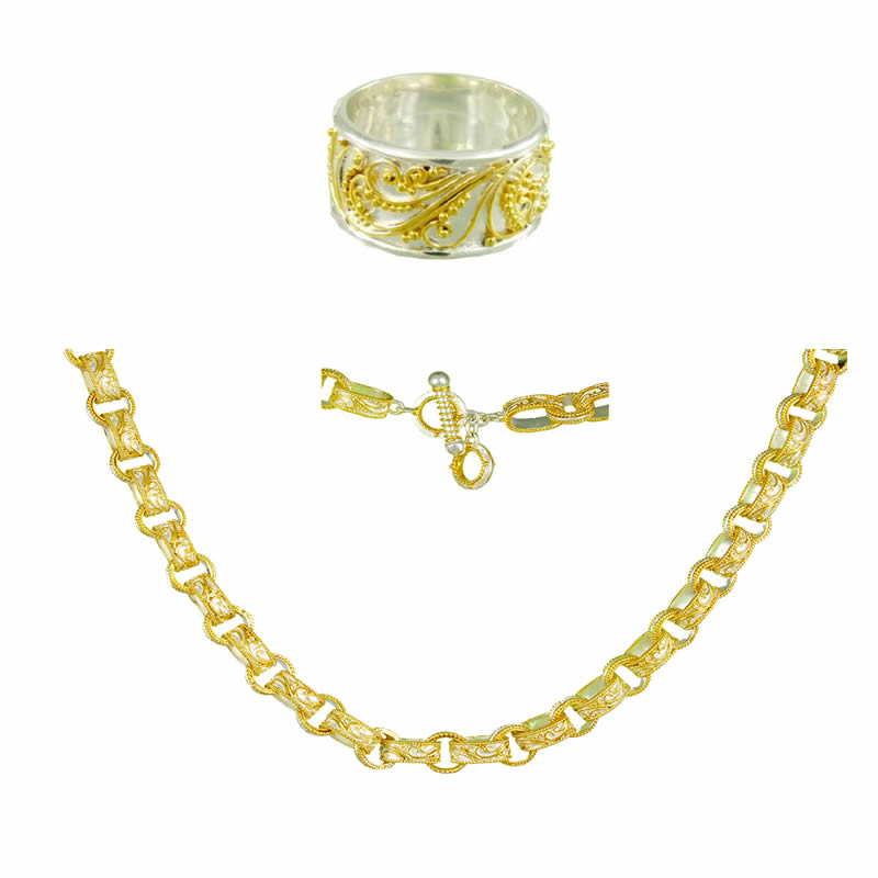 Gold Necklace & Ring Sets