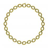 14k Yellow & White Gold Mixed Link Necklace