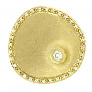 14k Gold Plate Pendant w/0.24 ctw of White Diamonds